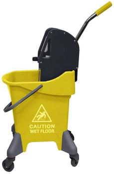 Cleanlink Mop Bucket Deluxe Downward Press 31 Litre Yellow
