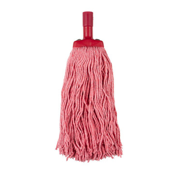 Cleanlink Mop Heads Coloured 400gm Red