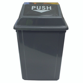 Cleanlink Rubbish Bin With Bullet Lid 25Litre Grey