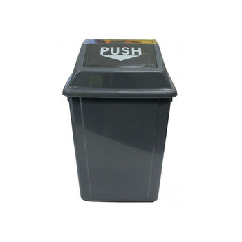 Cleanlink Rubbish Bin With Bullet Lid 40Litre Grey