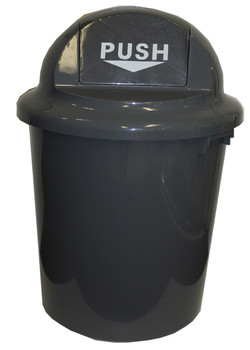 Cleanlink Rubbish Bin With Bullet Lid 60Litre Grey