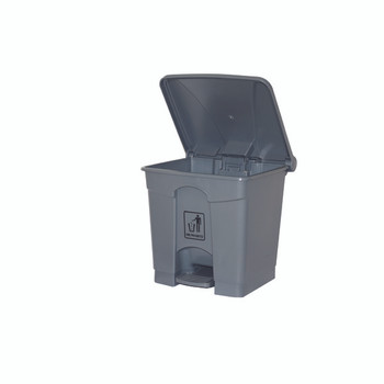 Cleanlink Rubbish Bin With Pedal Lid 45Litre Grey