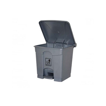 Cleanlink Rubbish Bin With Pedal Lid 68Litre Grey