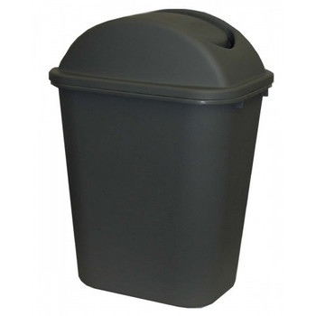 Cleanlink Dustbin With Lid 24 Litre Grey