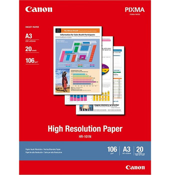 Canon High Resolution Paper HR-101NA3II A3 20 Sheets 106gsm