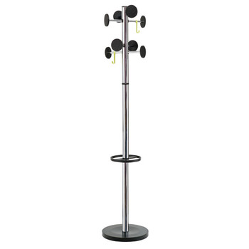 ALBA STAN 3 COAT RACK SILVER / BLACK