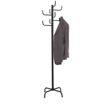 JASTEK COAT RACK BLACK 8 HOOKS