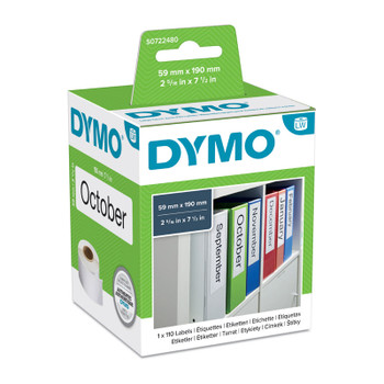 DYMO LabelWriter Lever Arch Labels 59 x 190mm
