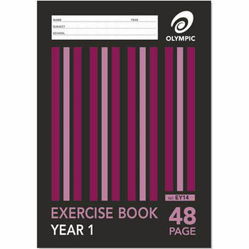 OLYMPIC EY14 EXERCISE BOOK YEAR 1 48 PAGE A4