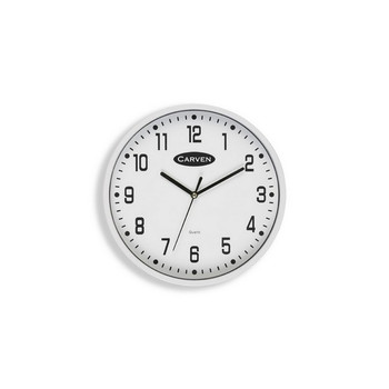 Carven Clock 225mm White Frame