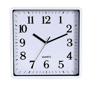 Carven Clock250mm square White Frame