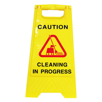 Cleanlink Safety Sign Cleaning In Progress Yellow