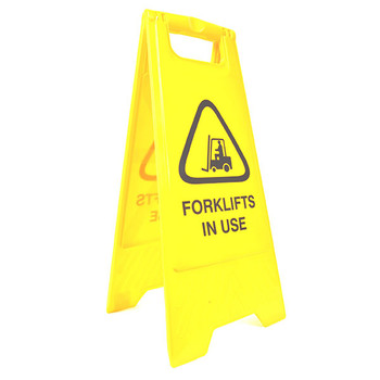 Cleanlink Safety Sign Forklifts In Use Yellow