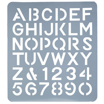 Esselte Lettering Stencils 75mm