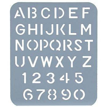 Esselte Lettering Stencils 25mm