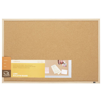 Quartet Corkboard Oak Frame 580 X 890mm
