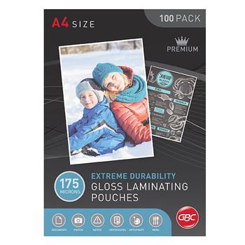 GBC Laminating Pouch A4 175 Micron PK100