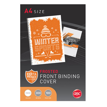 GBC Binding Cover A4 Polycover 300 Micron Frost PK100