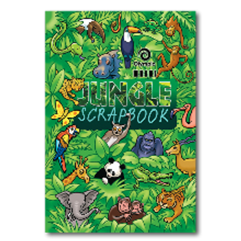 Olympic Scrap Book Jungle 335 x 240mm 67gsm 64 Pages