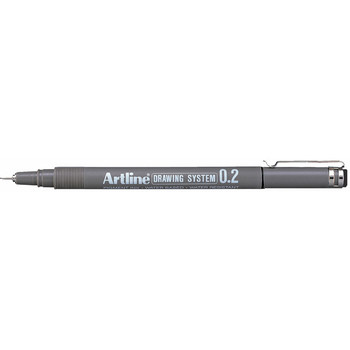 Artline 232 Drawing System Pen 0.2mm Black PK12