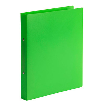 Marbig Soft Cover 2 Ring Binder A4 Lime Pack of 6
