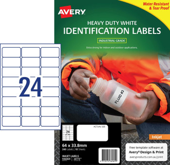 Avery 936069 Durable Heavy Duty Labels 240Labels