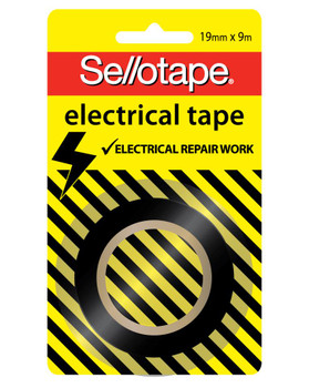 Sellotape Electrical Tape 19mmx 9m Black