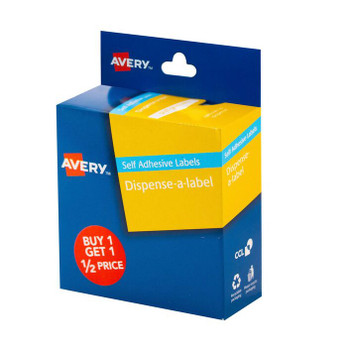 Avery 937353 Message Buy 1 Get 1 1/2 Price Label Red 300 Pack