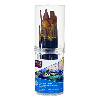 Derwent Academy Taklon Paintbrush Cylinder Set Small PK12