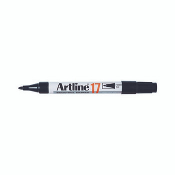 Artline 17 Industrial Permanent Marker 1.5mm Bullet Nib Black