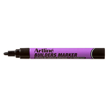 Artline Builders Marker Black BX 12
