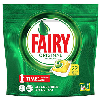 Fairy All In One Dishwashing Tablets Lemon 22PK