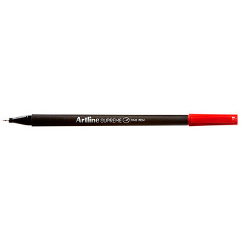 Artline Supreme Fineliner Pen 0.4mm Red Pack 12