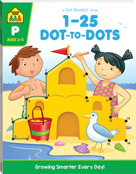 School Zone Get Ready 1-25 Dot To Dots Age 4-6