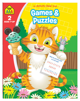 School Zone Games and Puzzles Age 4-6