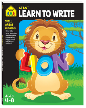 School Zone Giant Workbook Learn To Write Ages 4-8