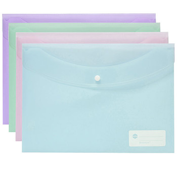 Marbig Doculope Wallet A4 Pastel Assorted 12 Pack