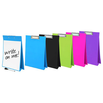 Colourhide My Stand-Up Clipboard Whiteboard A4 Black
