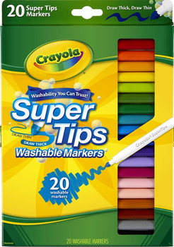 Crayola Super Tips Washable Markers 20 Pack