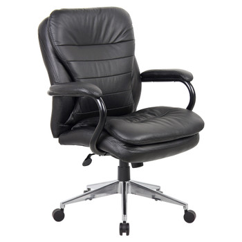 Titan Medium Back Leather Chair Weight Rating 200KG YS05M