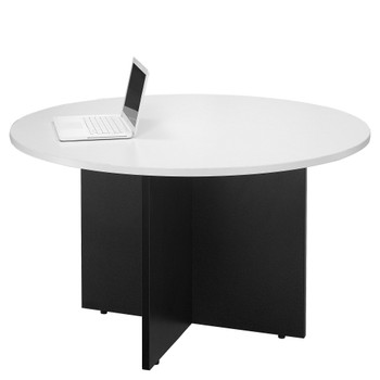 Logan MT09 Meeting Table Around 90cm White Black