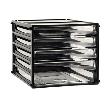 Esselte 49774 Desktop Filling Drawers A4 4D Black
