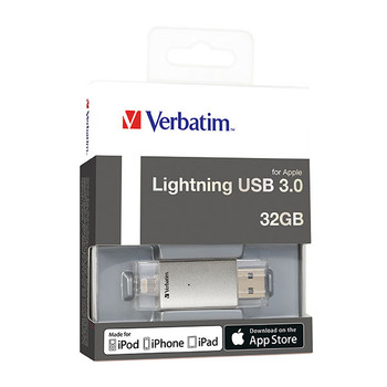 Verbatim 65560 On The Go Apple Lighting USB 3.0 32GB Silver