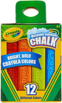 Crayola Washable Sidewalk Chalk 12 Pack