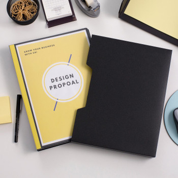Avery 47937 Insert Cover Display Book 60 Pocket A4 Black With Slip Case