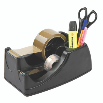 Marbig Professional 2 In 1 Heavy Duty Tape Dispenser Black