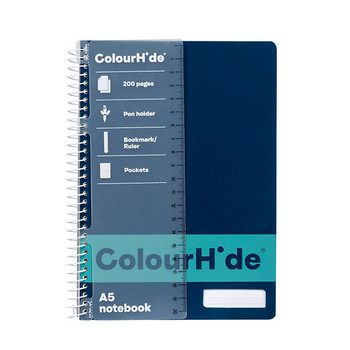 Colourhide Notebook A5 200 Pages Navy