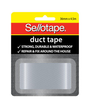 Sellotape 994001 Duct Tape 36mmx4.5m Silver