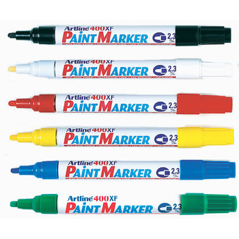 Artline 400 Permanent Paint Marker 2.3mm Bullet Assorted Box 15