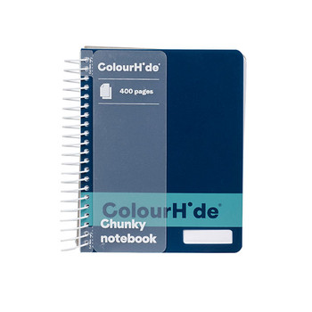 Colourhide Chunky Notebook 140 x 110mm 400 Page Navy